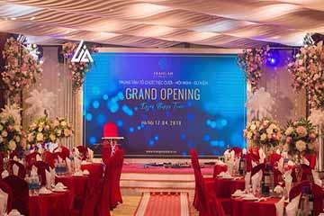 Màn hình LED P3 tiệc cưới Tràng An Hà Nội